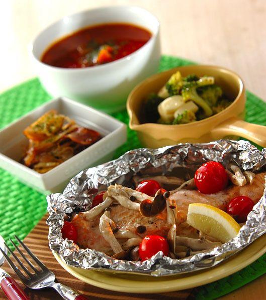 「サーモンのホイル焼き」の献立・レシピ - 【E・レシピ】料理のプロが作る簡単レシピ/2015.10.08公開の献立です。