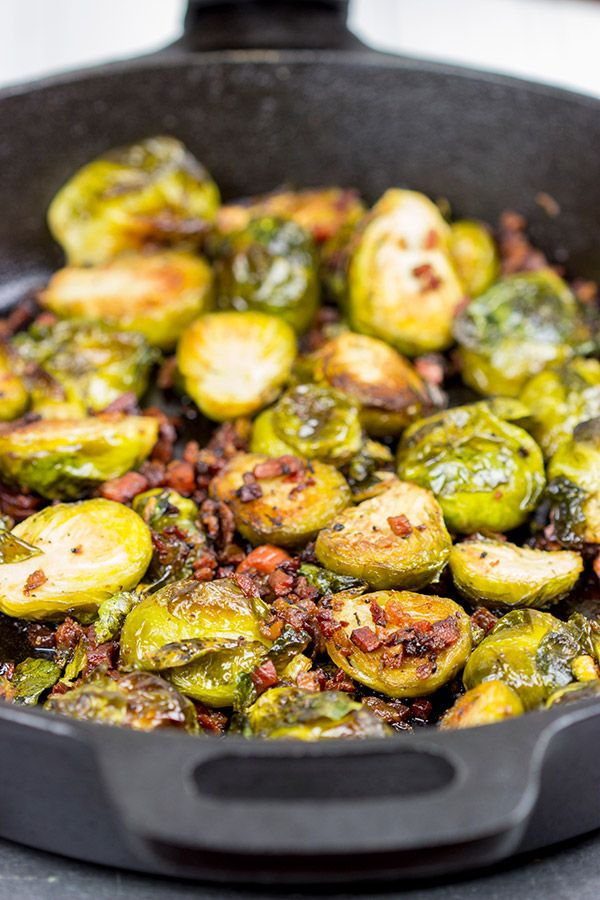 Roasted Brussels Sprouts with Pancetta - Spiced