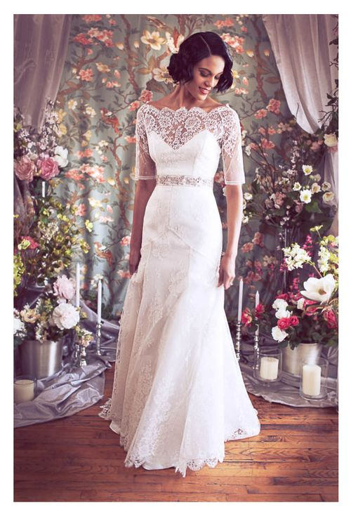 24 best fashion images on pinterest vintage dresses 50s for Custom made wedding dresses nyc