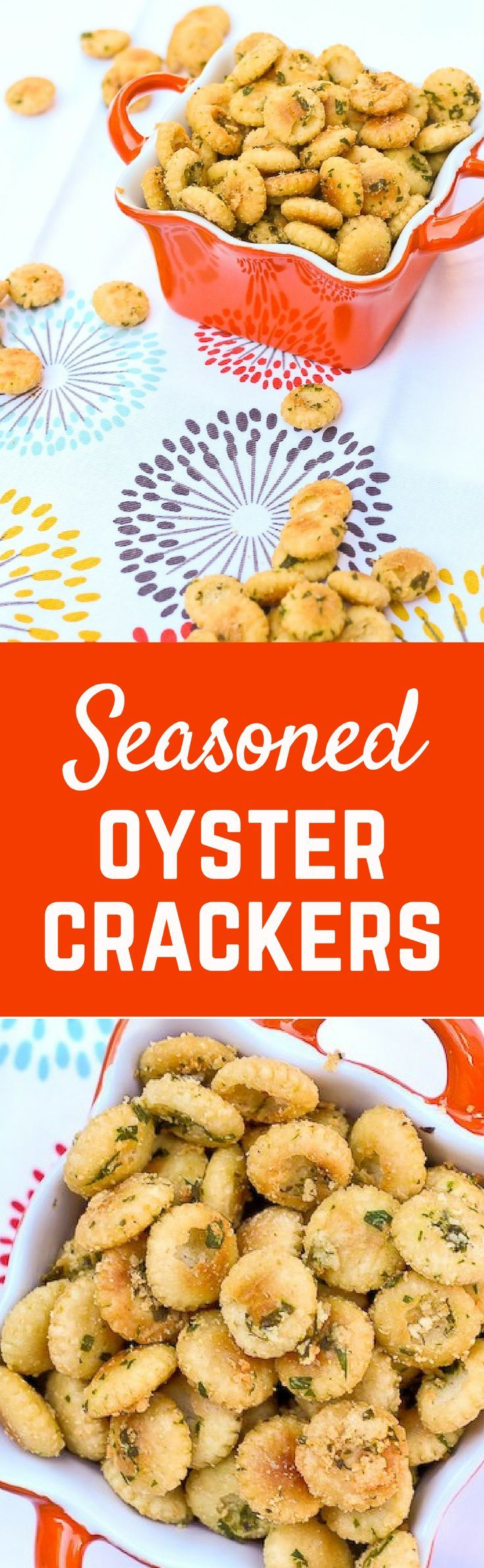 Seasoned Oyster Crackers - get the easy and addictive snack recipe on http://RachelCooks.com