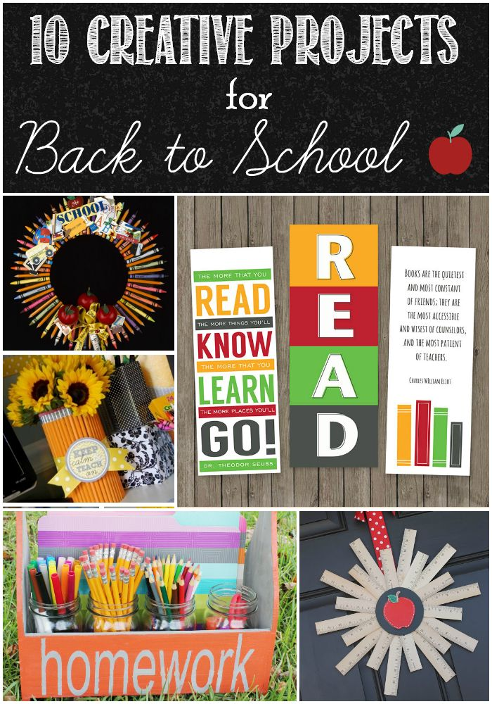 10 Creative Projects for Back to School | Back to ...