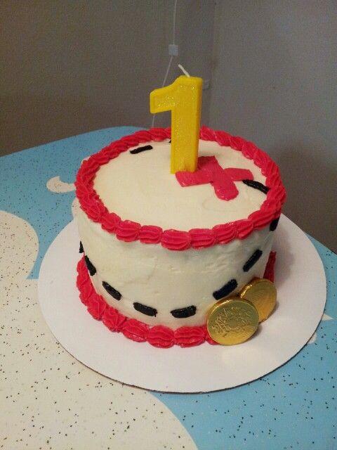 Jake and the neverland pirates themed smash cake i made