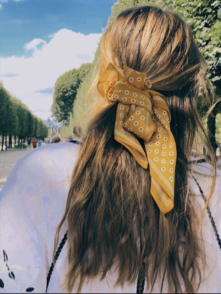 Pin by Britt Barnes on H a i r | Hair styles, Scarf ...