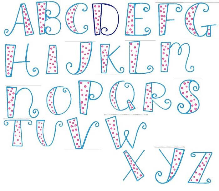 Sewn 4 You Designs Fonts and Alphabets xzMv2dqU