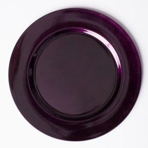 13 in. Fuchsia Charger Plate 4/pac