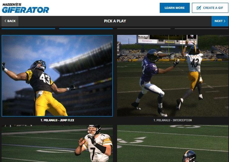 NFLのファインプレーを、GIFアニメに変換できちゃう生成エンジン「Madden GIFERATOR」 | AdGang