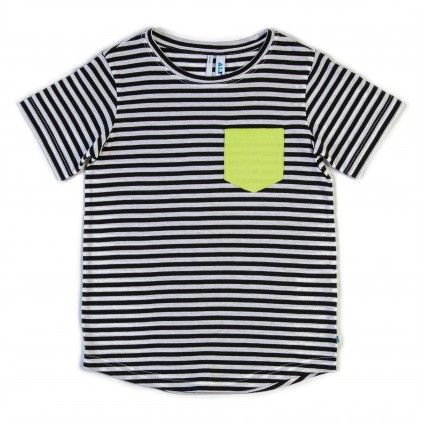 Basic Tee - Black/White Stripe