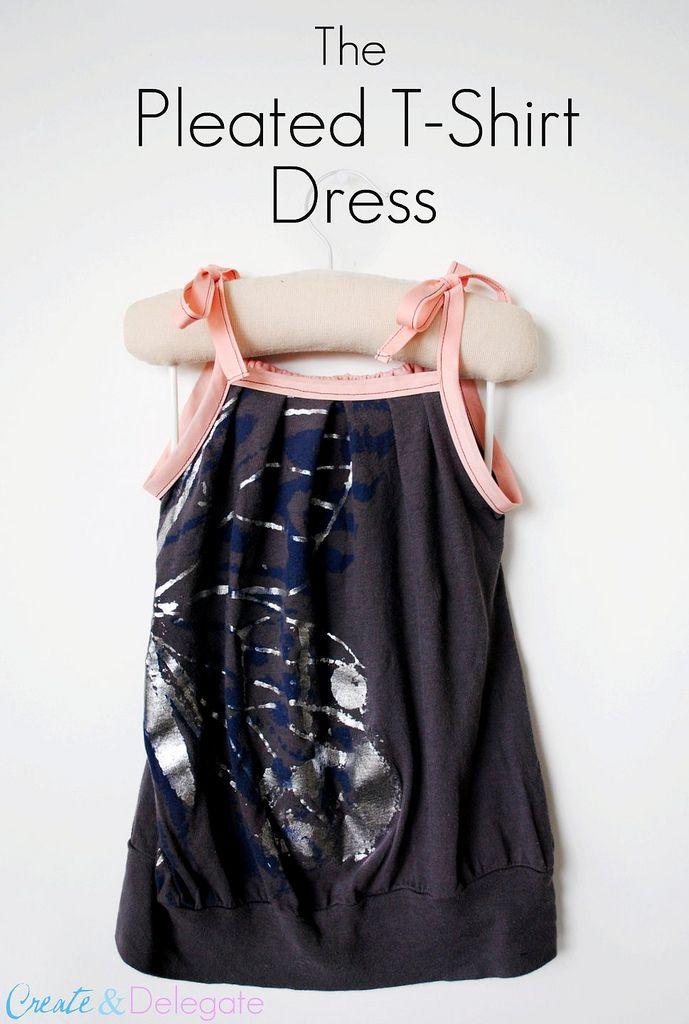 Pleated t-shirt dress