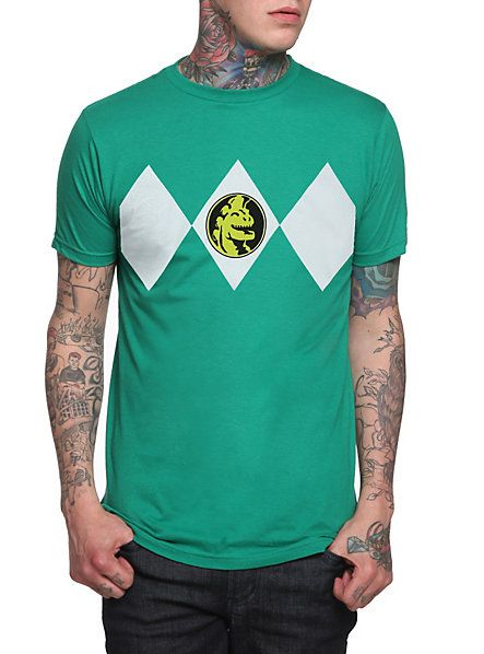 Mighty Morphin Power Rangers Green Ranger Costume T-Shirt | Hot Topic