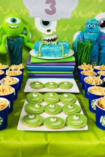 Amazing Monsters University birthday party!  See more party ideas at CatchMyParty.com!