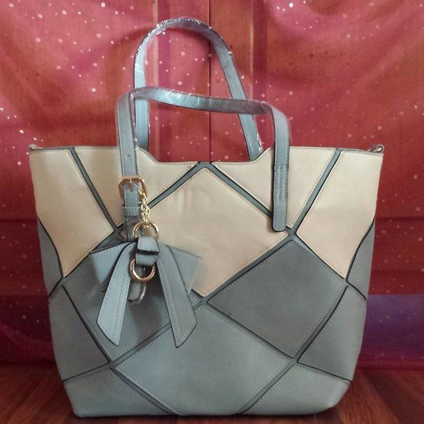 Susen Tote Bag Patchwork with 2 Colours