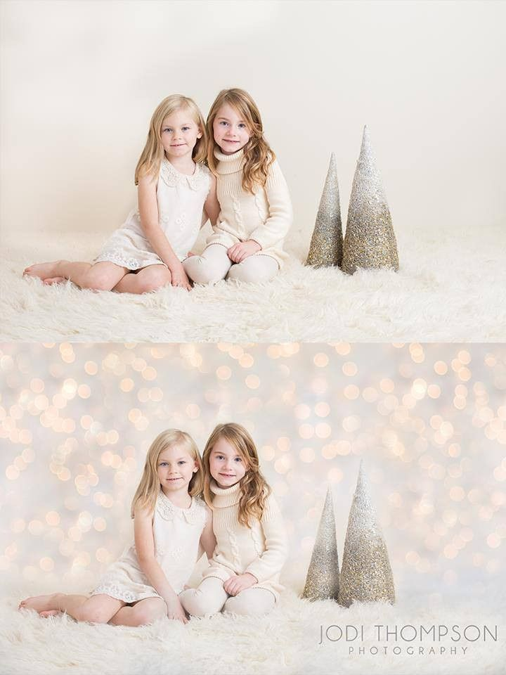 Christmas Lights Digital Photography Backdrop - MBP