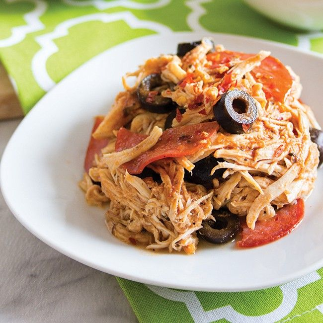 On overbooked evenings, slow cookers make dinner time run a little easier. Coming home to a dish that makes your house smell like pizza is never a bad thing!