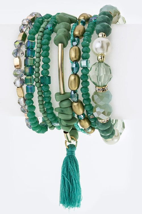 Tassel & mixed beads bracelets