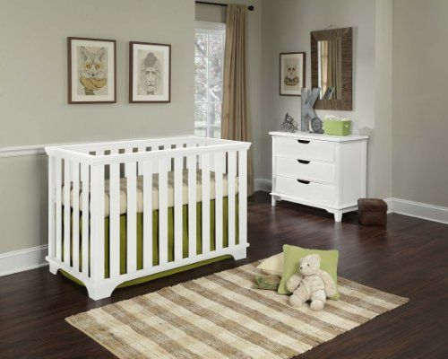 Imagio Baby Midtown Contemporary Crib, White   Imagio Baby Midtown Contemporary Crib, White The Imagio baby midtown contemporary crib has classic styling and scale to allow it to fit harmoniously in any nursery. This crib is a convertible crib that converts to a toddler bed with a toddler guard rail (guard rail sold separately). Beautiful lines and sturdy design and our high safety ratings make this a great selection for your baby. The crib has a three position mattress support that ..