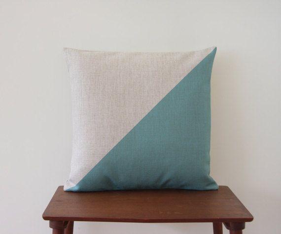 """18 """"x 18"""" Polster, Farbe Block Dreieck Kissen decken, minimalistischen 217, Dekorative Kissen, geometrische Kissen, Throw Pillow"""