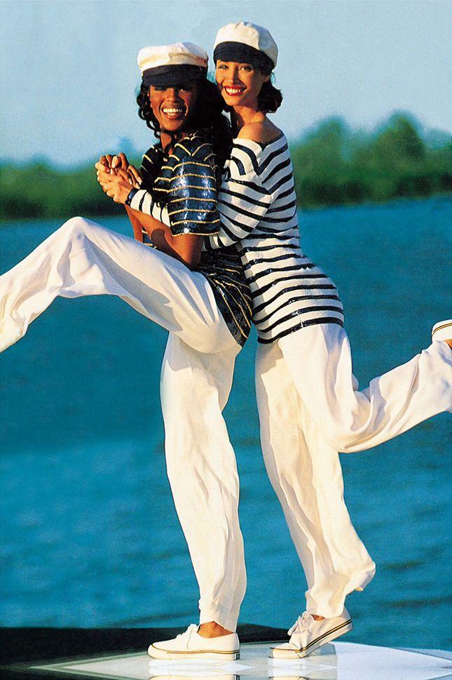 Наоми Кэмпбелл и Кристи Терлингтон в образах Ralph Lauren, фотограф Артур Элгорт, Vogue US, 1992 год