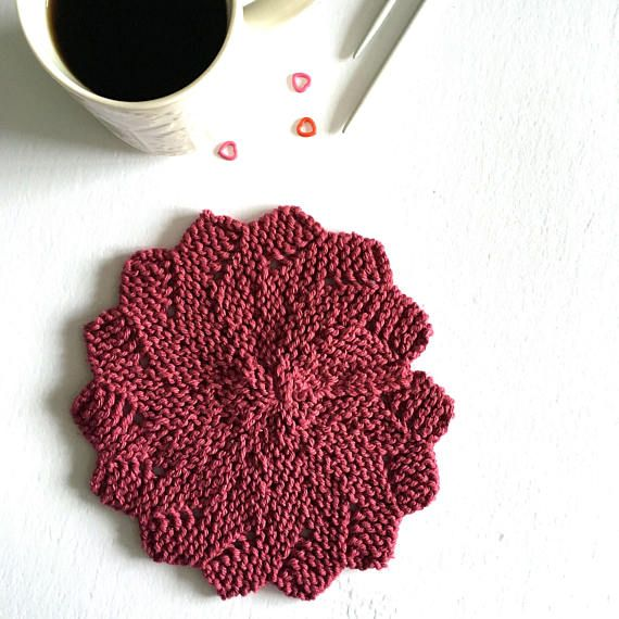 These are your classic hand knit dishcloths, just a little bit fancier! They can be used to wash the dishes, hold onto hot pots/pans, or placed under a warm dish or vase. Throw them in the washing machine when they get yucky, and reuse them over and over! Make a great addition to any