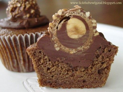 Ferrero Rocher and Nutella Cupcakes - All Things Cupcake