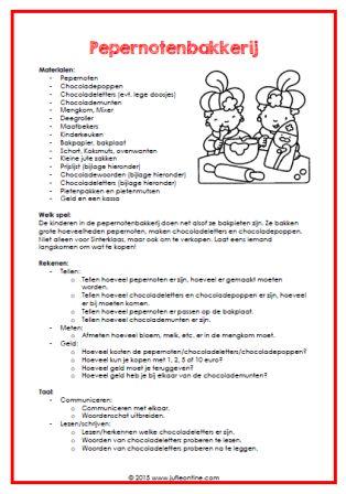 In dit document staan vijf manieren om de huishoek in te richten voor Sinterklaas. Met o.a. een materialenlijst, bijlagen en een spelbeschrijving!