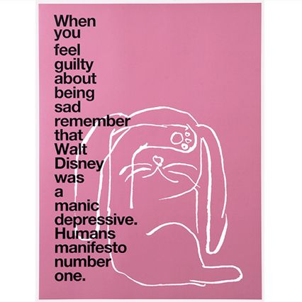 bunny poster - HUMANS 01 COLLECTION | Humans by Mike Mills