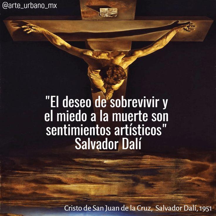 """Cristo de San Juan de la Cruz es un famoso cuadro del pintor español Salvador Dalí realizado en 1951. Está hecho mediante la técnica del óleo sobre lienzo, es de estilo surrealista y sus medidas son 205 x 116 cm.   """"El deseo de sobrevivir y el miedo a la muerte son sentimientos artísticos"""" Síguenos  Instagram: https://www.instagram.com/arte_urbano_mx  Facebook: https://www.facebook.com/arteurbanomx"""
