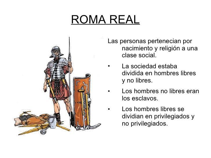 Ian Navarrine. Esta imagen describe la división social de Roma