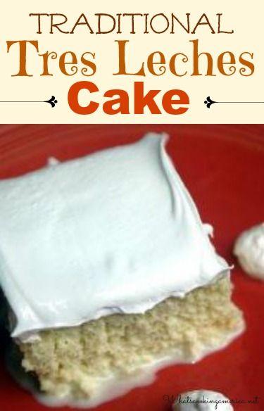 Tres Leche Cake Recipe & History  |  whatscookingamerica.net  |  #tres #leche #cake