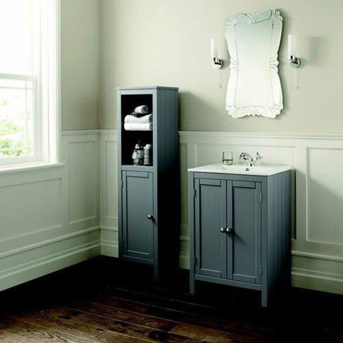 Vanity Unit Bathroom Grey brand new etienne dove grey traditional bathroom vanity unit