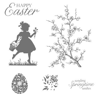 easter silhouette | Stamp Set: Easter Blossoms (121905 Wood Mount, 122057 Clear Mount)