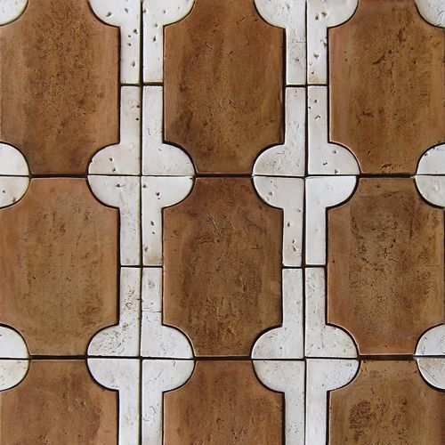 Tabarka Studio (in Arizona) have perfected handmade terracotta tiles. See Blogroll for a link to their site.   Decanted