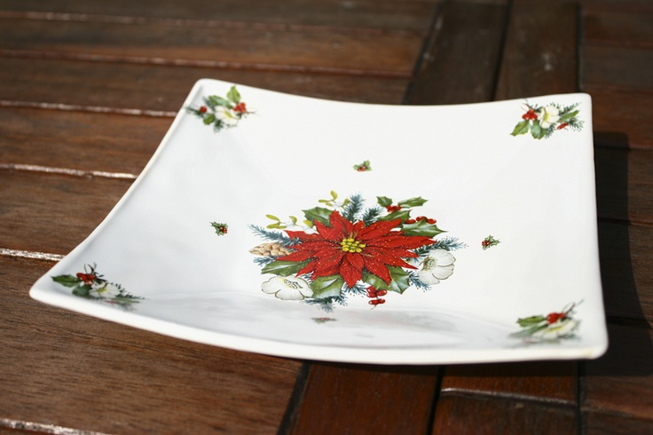 Ceramic Christmas plate