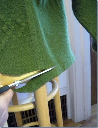 upcycled sweater tutorial