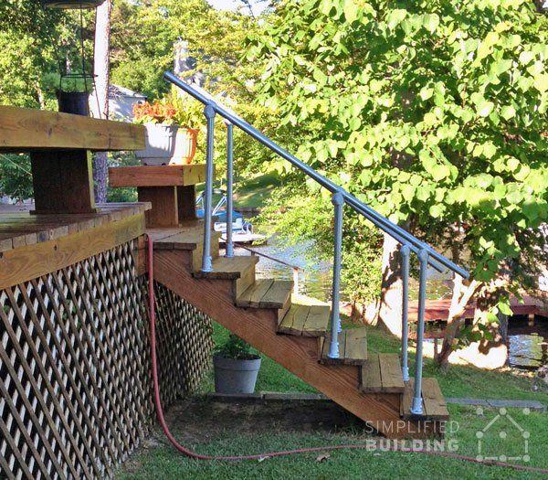 Best Simple Sturdy Exterior Stair Railing Keeklamp Handrail Pipe Railing Pinterest Simple 640 x 480