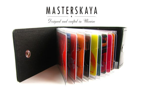 Porte cartes en cuir porte-cartes Colorplay en par THEMASTERSKAYA