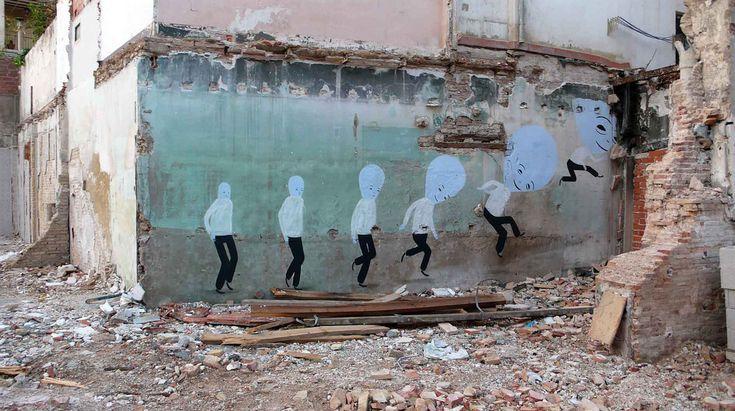 Enigmatic Street Art by Escif | Abduzeedo Design Inspiration