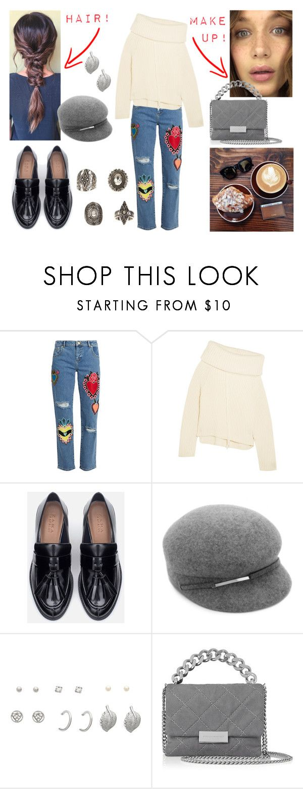 """""""13/02/19"""" by milena-pavoni ❤ liked on Polyvore featuring House of Holland, Joseph, Zara, Nine West, STELLA McCARTNEY and Relic"""