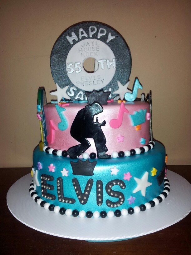 Elvis cake all edible and handmade