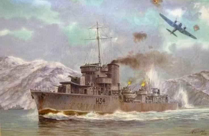 Destructor Błyskawica 1937, Polonia