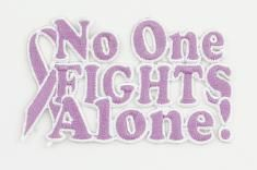 No One Fights Alone Peel and Stick Patch - Testicular Cancer (Orchid)