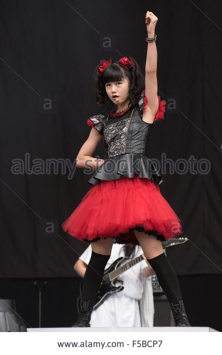 Performances Day 3 Leeds Festival 2015 Featuring: Babymetal Where Stock Photo, Picture And Royalty Free Image. Pic. 89376623