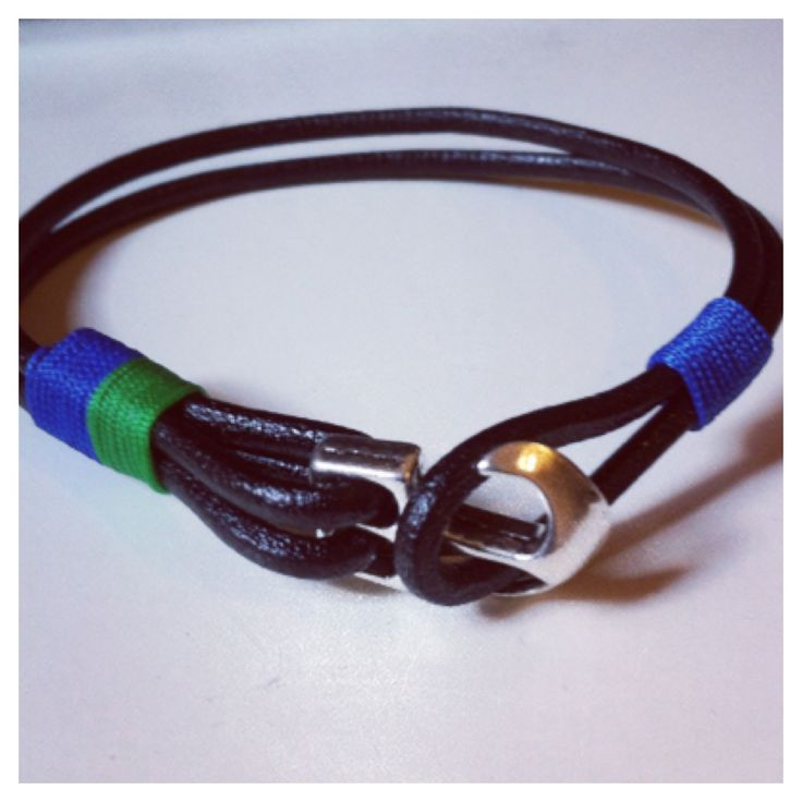 nunKI   Nautic Leather Man Bracelet #Menswear #Bracelet #menbracelet #Pulseira #Homem