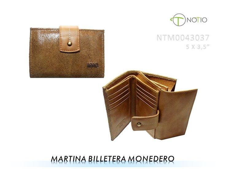 Notio marroquineria  en cuero-  Martina billetera