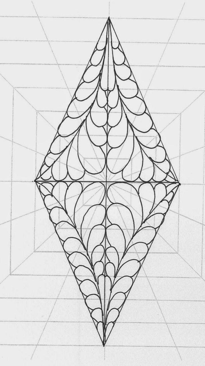 90 best Machine quilt designs-diamonds images on Pinterest | Free ...