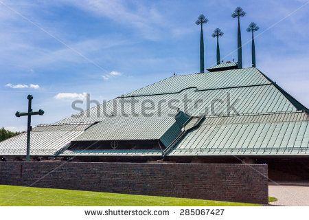 Modern church  The church of the holy spirit. Country: Poland City: Tychy Street: Mysliwska  Date: May 16, 2015