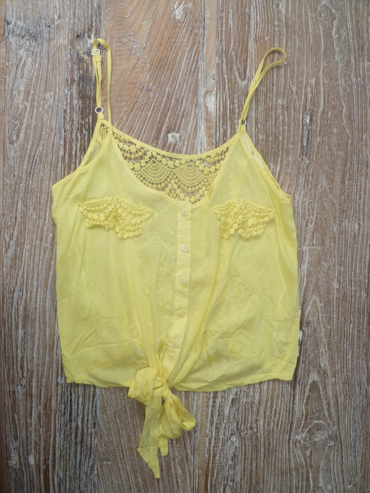 Yellow: Style, Crop Tops, Yellow Ties, Things, Wear, Summer Clothes, Yellow Tank Tops, Cute Summer Tops