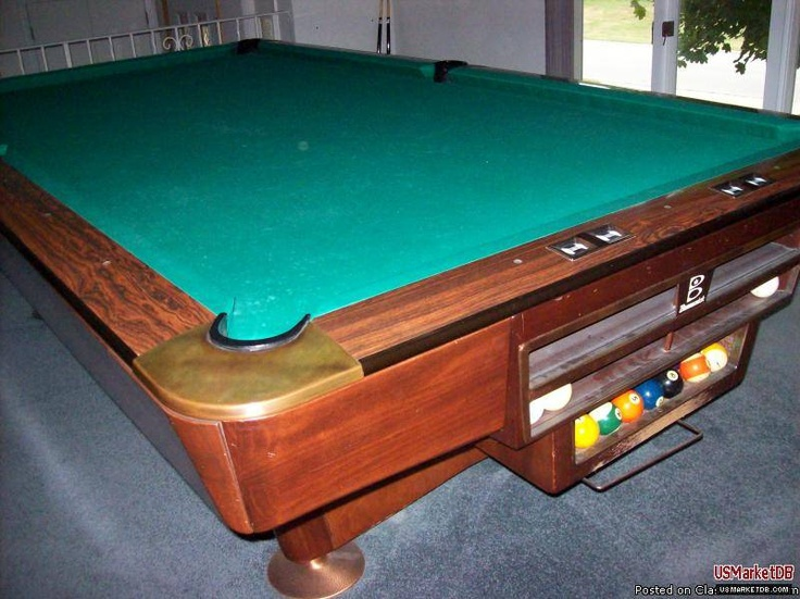 Brunswick Gold Crown III was the industry standard for a great professional quality regulation 9' pool table. Considered by many to be the best pool table ever made. Google Image Result for http://www.usmarketdb.com/upload/ads_3/ads_33/ads_338/ads_3380/ads_33809/ads_338094/img_338094_5.jpg