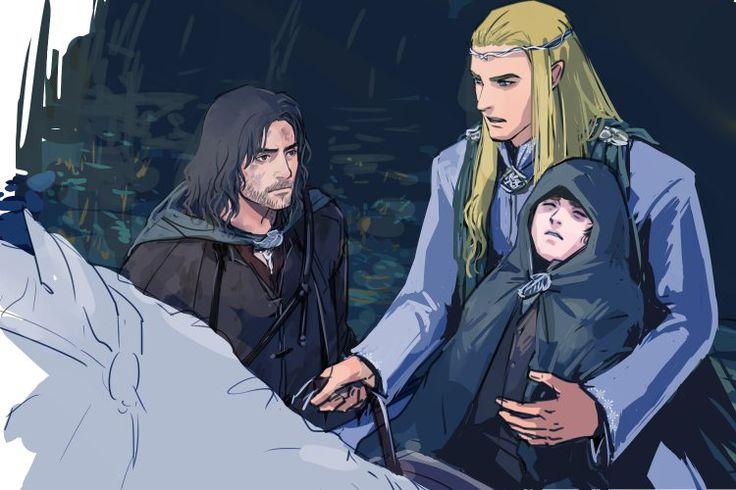 Арагорн,Глорфиндель и Фродо Aragorn,Glorfindel and Frodo
