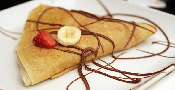 Nutella crepe food