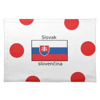 Slovak Language And Slovakia Flag Design Cloth Placemat - decor gifts diy home & living cyo giftidea